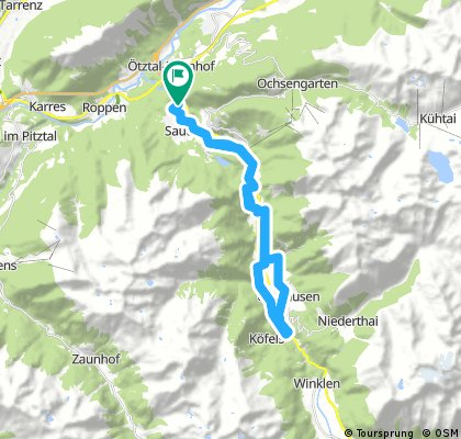 24 . Bike Tour , von Brunau auf den Ötztal  Trail - Ötz -Habichen - Tumpen - Brücke Köfels -Umhausen und retour