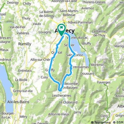 2016 Ride Day 147 - Seynod (Annecy) - Circle through Col de Leschaux