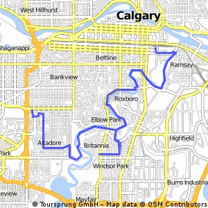 Cycling routes and bike maps in and around Calgary Bikemap Your