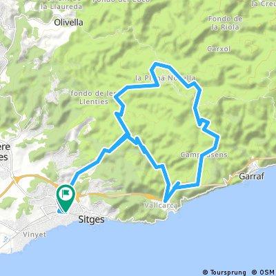Ruta B.T.T. Sitges _ Vallcarca _ Campdasens _ Vallgrassa _Plana Novella _Sitges