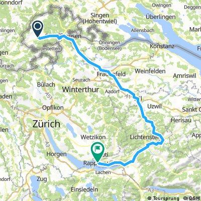 Vom Klettgau übers Toggenburg nach Rapperswil
