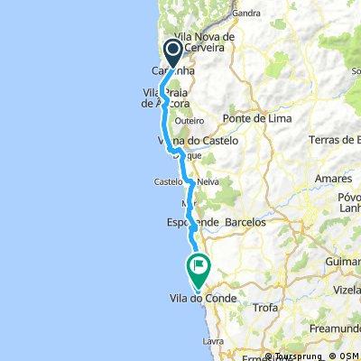 caminha - povoa de varzim 75 km 250 hm