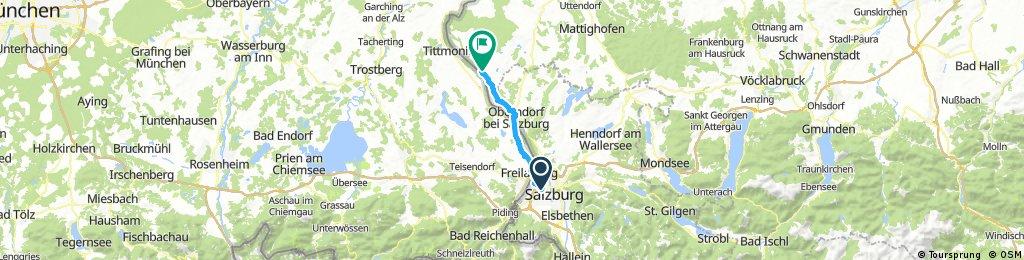 Radfahren 33,15km 70hm 1h 5min