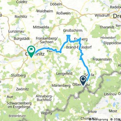 10.09.2016 Tour Olbernhau-Sayda-Freiberg-Oederan-Flöha