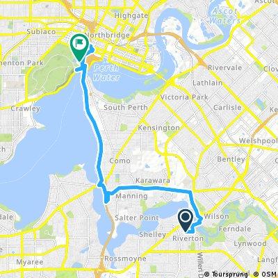 bike tour from Riverton to Kings Park