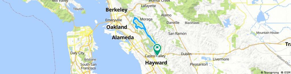 Lengthy ride through Castro Valley