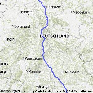 Wardenburg(Oldbg)-München in 6 Etappen