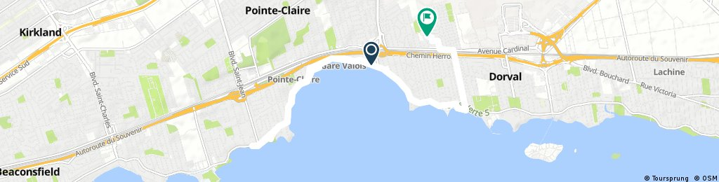 ride from Pointe-Claire to Dorval