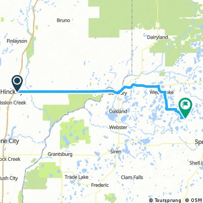 Lengthy ride from Hinckley to Spooner, WI
