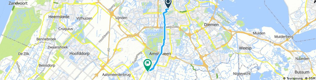 bike tour from Amsterdam to Amstelveen