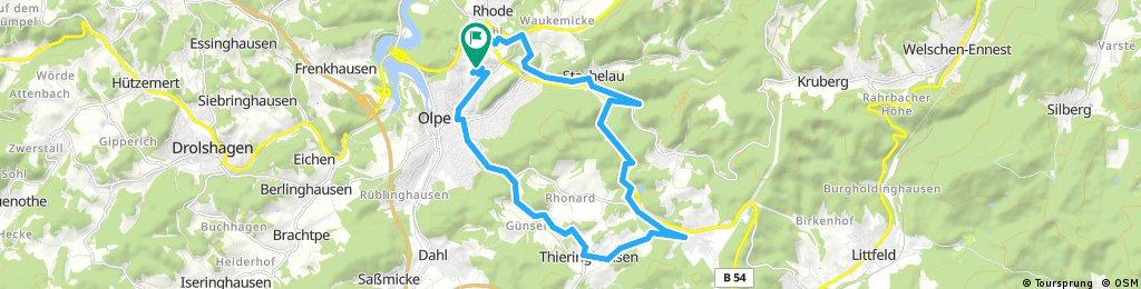 Abendrunde Gänse-Thieringhausen-Altenkleusheim-Rohde