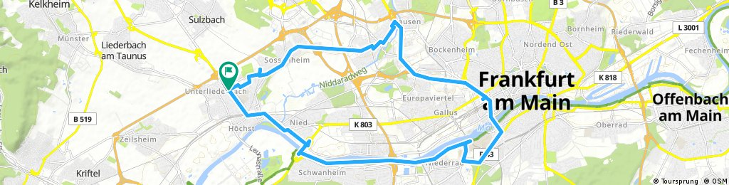 Ausfahrt durch Frankfurt am Main