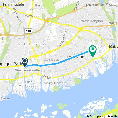 Quick ride from Oyster Bay to Babylon