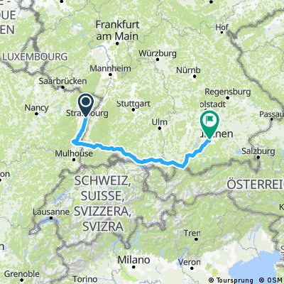 Still cycling 2017 / the Strasbourg-Munich connection