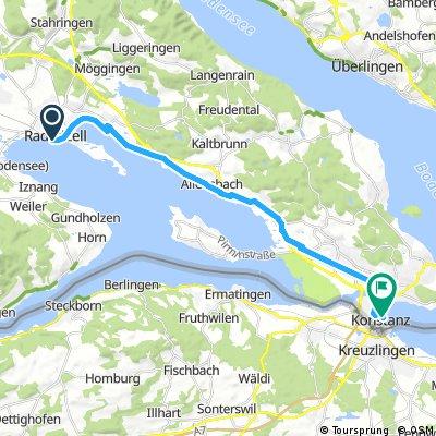 Radrunde von Radolfzell am Bodensee nach Konstanz