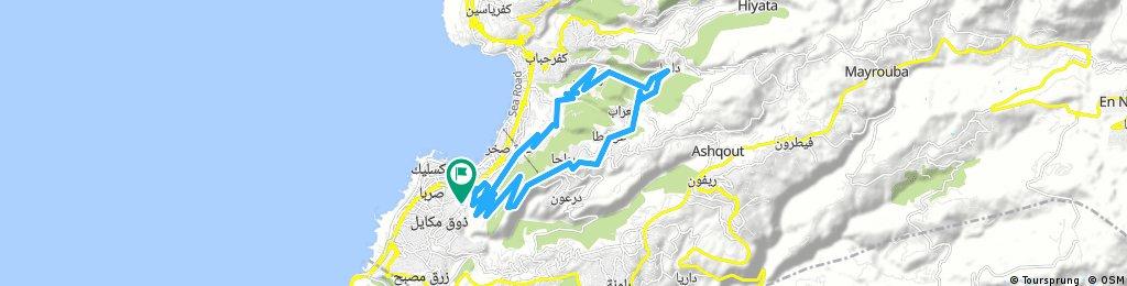 The Road to Kesserwan Mountains