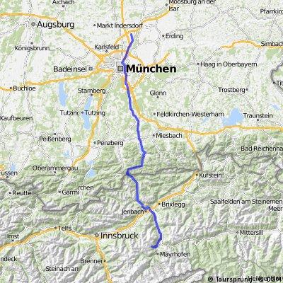 Neufahrn bei München ins Zillertal