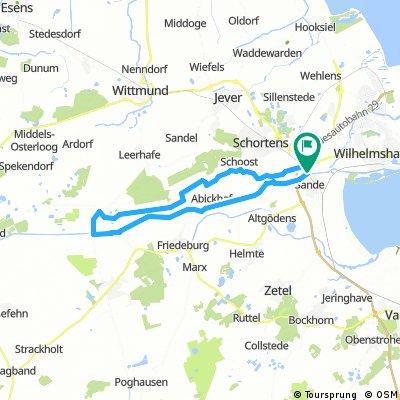 Ems-Jade-Kanal 47 km ab Sande und zurück