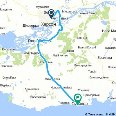 Херсон-Скадовск 100 на море (мой - 106 км)