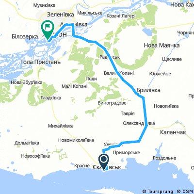 Скадовск-Херсон М17 115 км