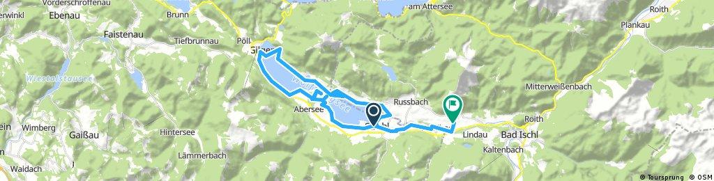 Lange Radrunde von Strobl nach Sankt Wolfgang im Salzkammergut