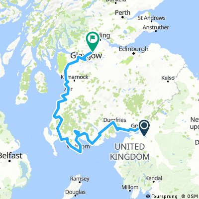 St Ninian's Way - Carlisle to St Andrews- about 700kms