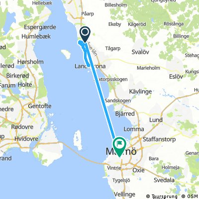 bike tour from Glumslöv to Malmö