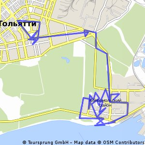 Cycling routes and bike maps in and around Tolyatti Bikemap Your
