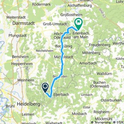 Mümlingradweg Hirschhorn-Obernburg