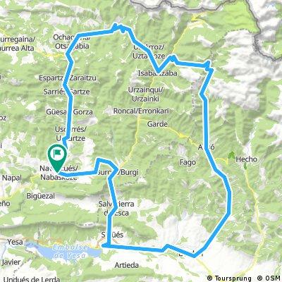Navascués-Las Coronas-Sigües- Berdún-Ansó-Zuriza- Laza- Navascués