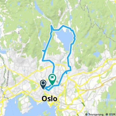 Majorstuen-Songsvann-Maidalsvannet-Alexander Kiellands plass (31 km)