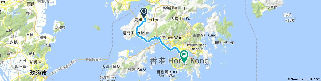 Long bike tour from (null) to 香港