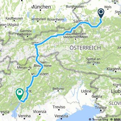 MTB Tour von Gmunden an den Gardasee