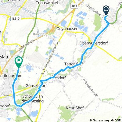 Ausfahrt von Trumau nach Kottingbrunn