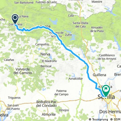 Cortegana to Seville