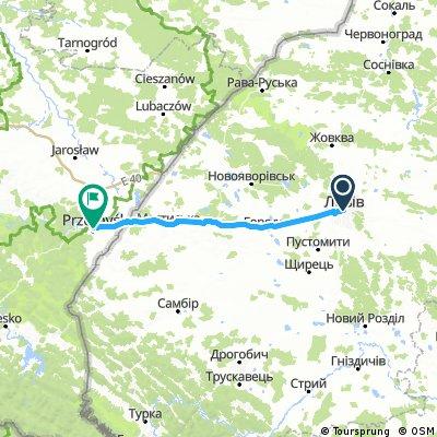 2016_Wien_Lwiw_Rückreise nach Przemysl_96km_500hm