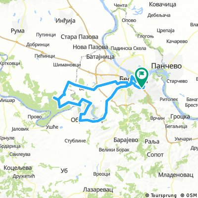 Obrenovac Obedska Bara Surcin Bikemap Your Bike Routes