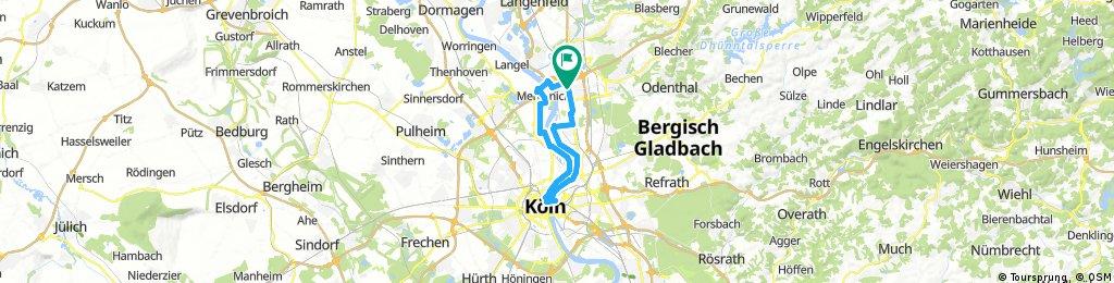 Tour 12 Köln aus dem ADFC Leverkusen Radtourenbuch