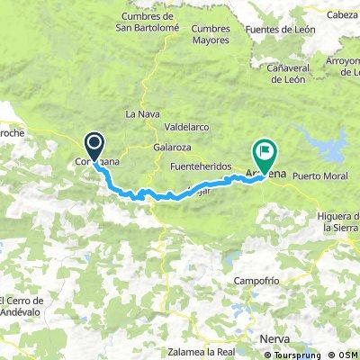 Cortegana to Aracena
