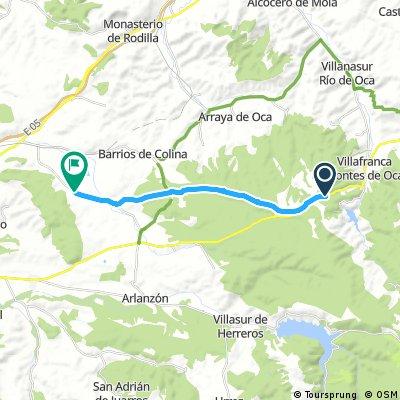 Zwischenetappe Burgos 15 KM
