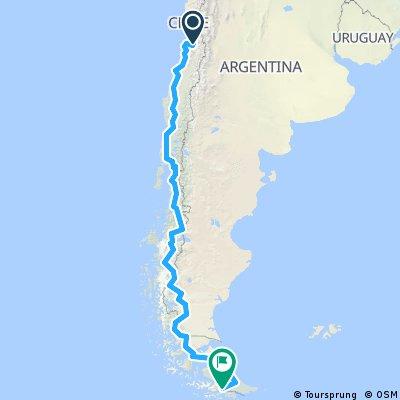 Santiago To Tierra Del Fuego