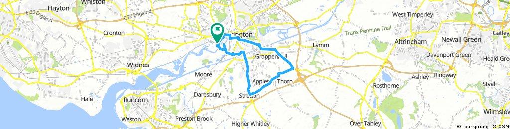 bike tour through Warrington