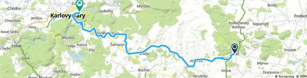 KH: Valeč-Andělská hora-K.Vary
