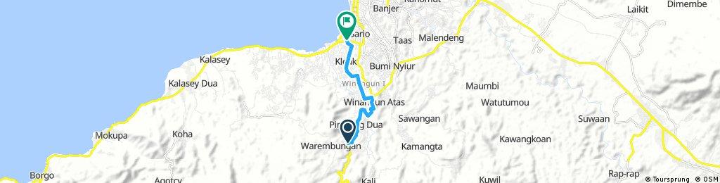 Short ride from Minahasa to Kota Manado