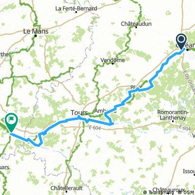 von Orleans nach Saumur
