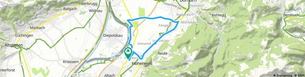 Radrunde durch Hohenems