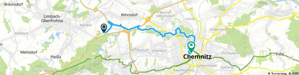 Ausfahrt durch Chemnitz