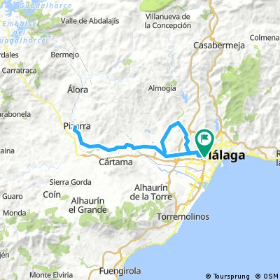 Málaga - Junta de Caminos - Campanillas - Pizarra - Málaga