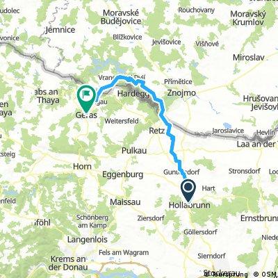 Lange Ausfahrt von Hollabrunn nach Geras