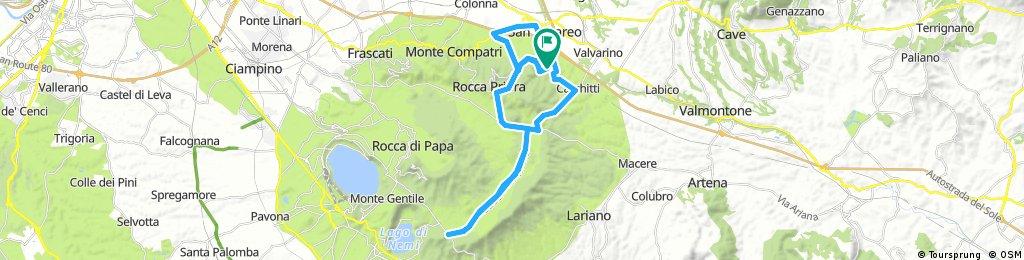 Lengthy bike tour from Rocca Priora to Colle di Fuori